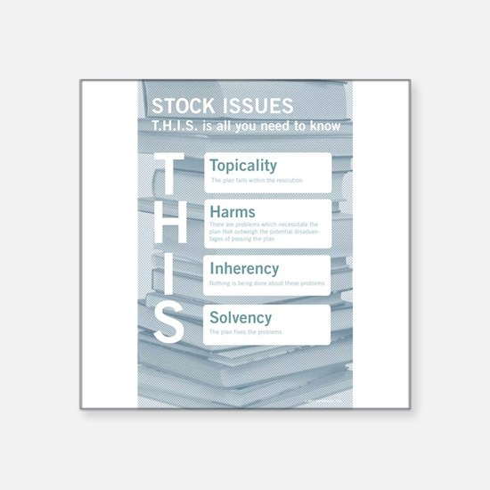 Stock Issues Sticker