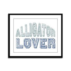 Alligator Lover Florida Fan Framed Panel Print