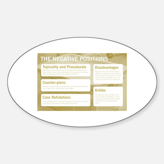 The Negative Positions Decal