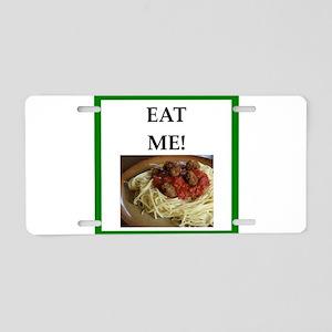 funny meat joke Aluminum License Plate