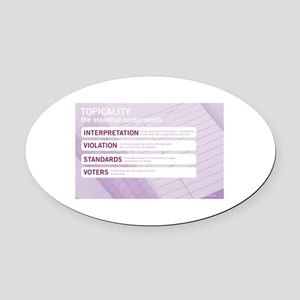 Topicality Oval Car Magnet