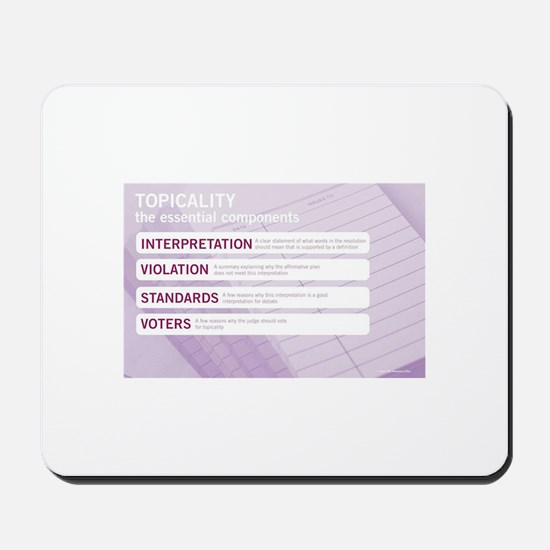 Topicality Mousepad