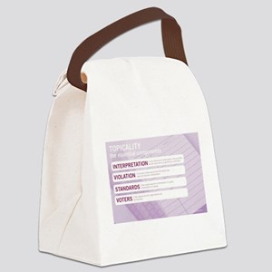 Topicality Canvas Lunch Bag
