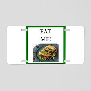 tacos Aluminum License Plate