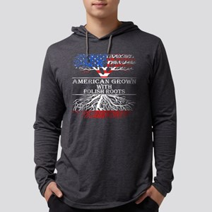 American Grown With Polish Roo Long Sleeve T-Shirt