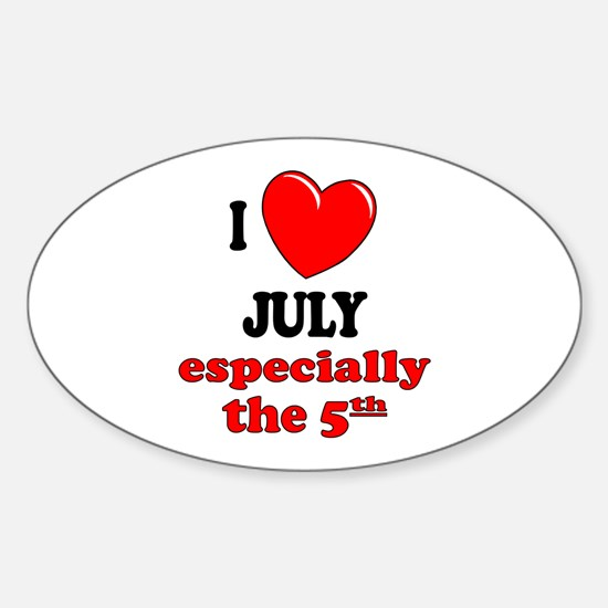 July 5th Oval Decal