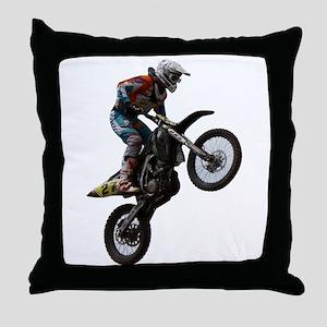 Enduro freestyle Throw Pillow