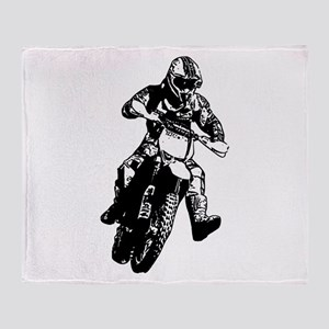 Enduro race Throw Blanket
