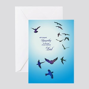 Sympathy for loss of dad card with birds Greeting