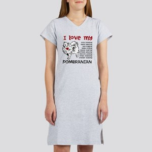 I love my my face pom Women's Nightshirt