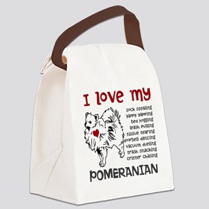 I love my my face pom Canvas Lunch Bag