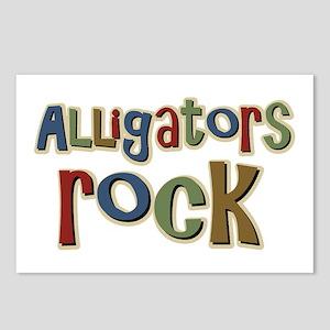 Alligators Rock Gator Reptile Postcards (Package o