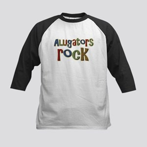 Alligators Rock Gator Reptile Kids Baseball Jersey