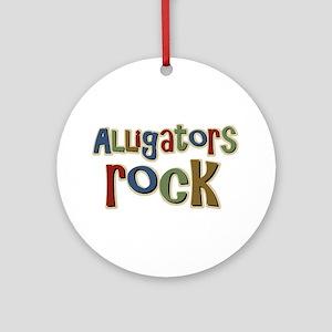 Alligators Rock Gator Reptile Ornament (Round)