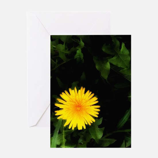 Single Yellow One Greeting Cards