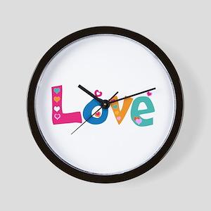Cute Colorful Love Wall Clock