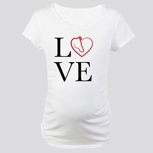 I Love horse riding Maternity T-Shirt