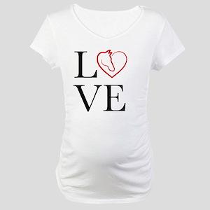 I Love horse riding Maternity T-Shirt