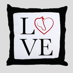 I Love horse riding Throw Pillow
