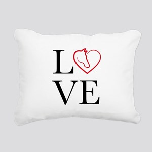 I Love horse riding Rectangular Canvas Pillow
