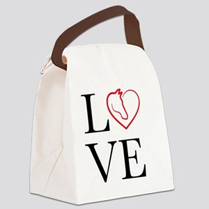 I Love horse riding Canvas Lunch Bag