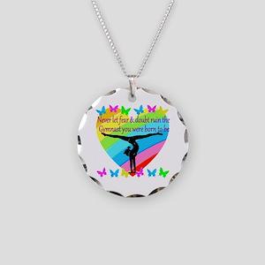 GYMNAST GOALS Necklace Circle Charm