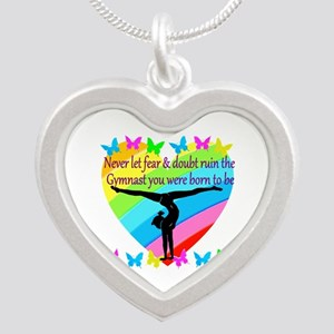 GYMNAST GOALS Silver Heart Necklace