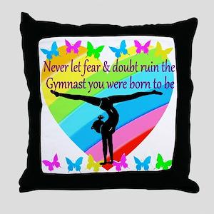 GYMNAST GOALS Throw Pillow