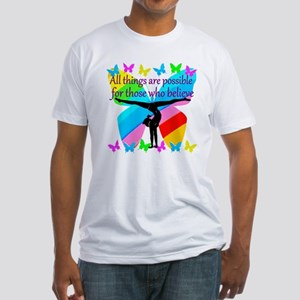 GYMNAST GOALS Fitted T-Shirt