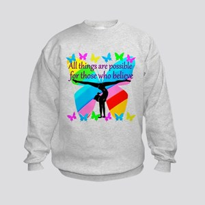 GYMNAST GOALS Kids Sweatshirt