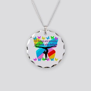 GYMNAST GOALS Necklace Circle Charm