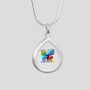 GYMNAST GOALS Silver Teardrop Necklace