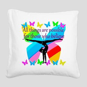 GYMNAST GOALS Square Canvas Pillow