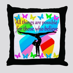 GYMNAST GOALS Throw Pillow
