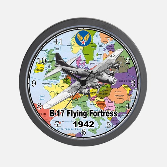 B-17 Flying Fortress WW2 Wall Clock