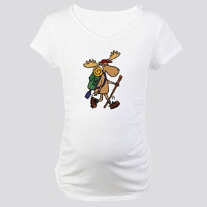 Moose Hiking Maternity T-Shirt