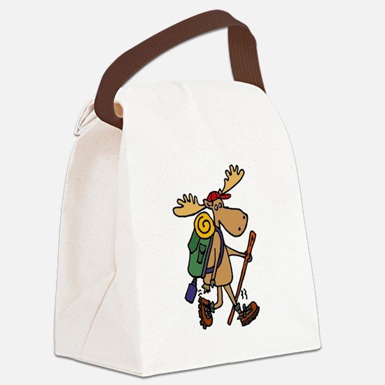 Moose Hiking Canvas Lunch Bag