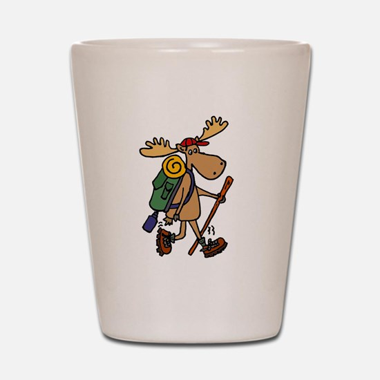 Moose Hiking Shot Glass