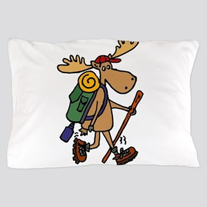 Moose Hiking Pillow Case