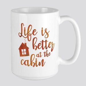 Life's Better Cabin Large Mug