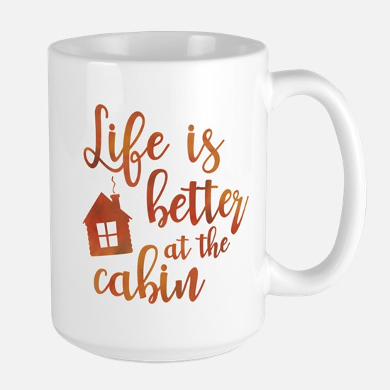 Life's Better Cabin Large Mug