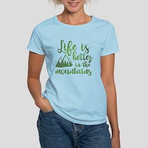 Life's Better Mountains Women's Light T-Shirt