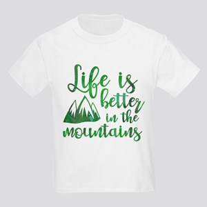 Life's Better Mountains Kids Light T-Shirt