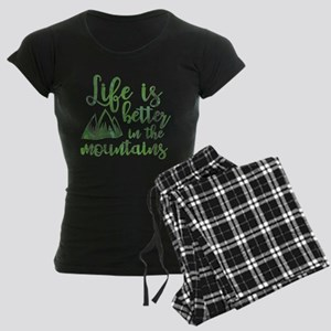 Life's Better Mountains Women's Dark Pajamas