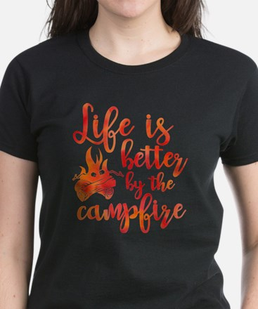 Life's Better Campfire Women's Dark T-Shirt