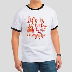 Life's Better Campfire Ringer T