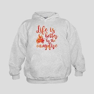Life's Better Campfire Kids Hoodie