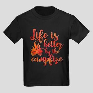 Life's Better Campfire Kids Dark T-Shirt