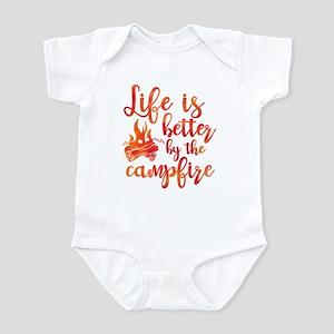 Life's Better Campfire Infant Bodysuit
