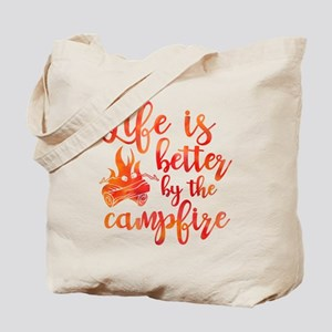 Life's Better Campfire Tote Bag